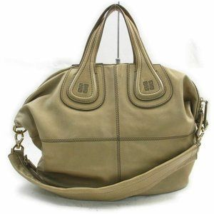 Givenchy Light Brown Beige Tan Nightingale 2way